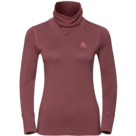 Odlo Natural 100% Merino Bl Golf 1/2 Kobiety, roan rouge/grey melange